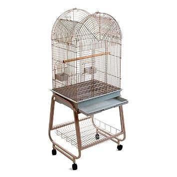 Jaula de Pájaros Pajarera Parakeets Pequeño Soporte De Techo De Apertura, diseño de loros sobre ruedas: Amazon.es: Productos para mascotas