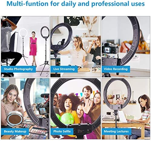 "22"" Ring Light,Professional Extra Large 3 Devices Compatible,Energy-Saving Big Led Circle Light Kit with Stand Phone Holder,for Photography Studio YouTube Tiktok Camera Video Recording Live Streaming"