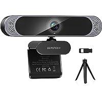 Webcam con micrófono, 2021 DEPSTECH 4K Webcam con sensor Sony Autofocus cámara web con cubierta de privacidad y trípode…