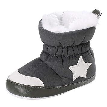 Fuxitoggo Zapatos para niños, Botines de algodón Suave para niña bebé, Botas para la