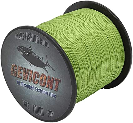 GEVICONT Superbraid Fishing Lines Most Valuable Long line Fishing Weaves PE 4 Strand 1500m//1640yd 2000m//2187yd 6LB-100Lb Available in 10 Colors for Sea Fishing