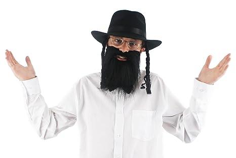 ILOVEFANCYDRESS Jeu d accessoires de Juif orthodoxe pour adulte avec un  chapeau noir avec les 0fc2f45ecf08