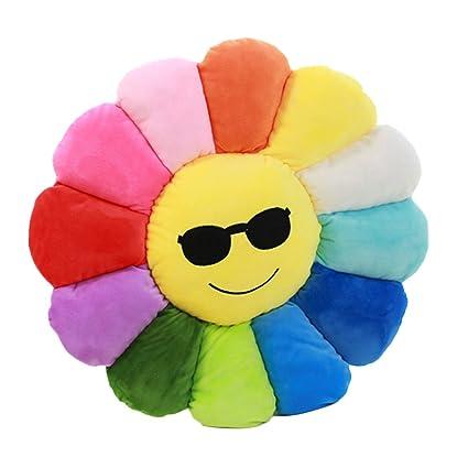 Nunubee Novelty Cute peluches algodón cojín flores almohada cojines para suelo sofá decoración del hogar