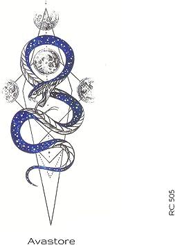 Avastore - Tatuaje temporal, diseño de serpiente, tatuaje efímero ...