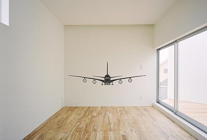 Jumbo Jet Airplane Vinyl Wall Decal Home Kitchen