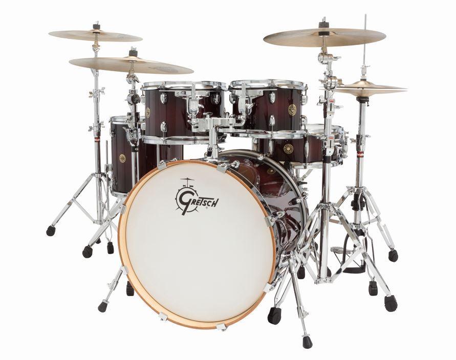 gretsch drums catalina maple cm1 e605 dcb 5 piece drum shell pack deep cherry burst. Black Bedroom Furniture Sets. Home Design Ideas