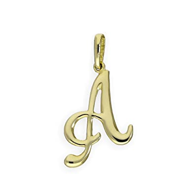 b3183d34815ee 9ct Gold Fancy Calligraphy Script Letter Charms A - Z