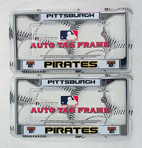 - Pittsburgh Pirates Chrome License Plate Frame - Set of 2