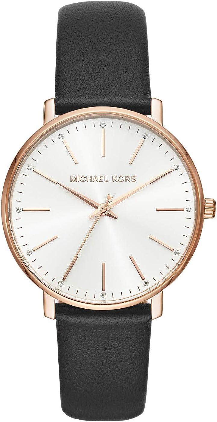 Michael Kors Reloj Analogico para Mujer de Cuarzo con Correa en Piel