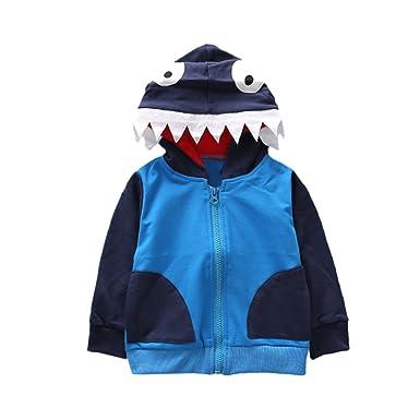 cc857af773c4 Bokeley Baby Kids Tops Boys Girls Cartoon Animal Clothes Hooded Coat Warm  Cloak (80