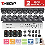 [Better Than 1080N]TMEZON HD 1080P 16 Channel AHD DVR Video Security System with 16 x 2.0MP 2000TVL AHD Cameras 65ft Night Vision NO HDD Review