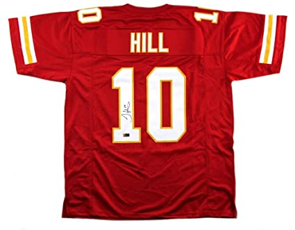 brand new b577b 5d924 Tyreek Hill Autographed Jersey - Custom Red - Autographed ...