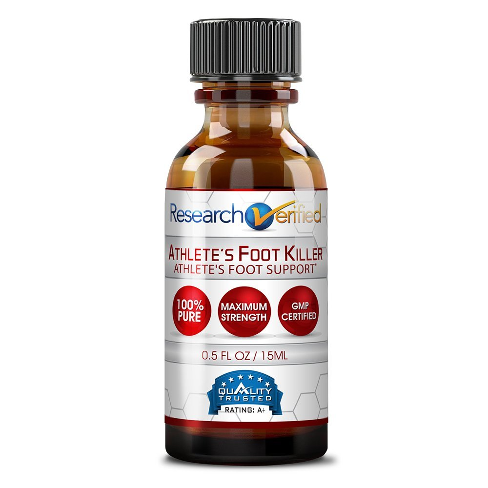 Research Verified Athlete's Foot Killer - 6 Bottles - Top Athlete's Foot Relief - 25% Undecylenic Acid and Tea Tree Oil. Reduce infection duration, frequency and severity. 100% money back guarantee! by Research Verified (Image #6)