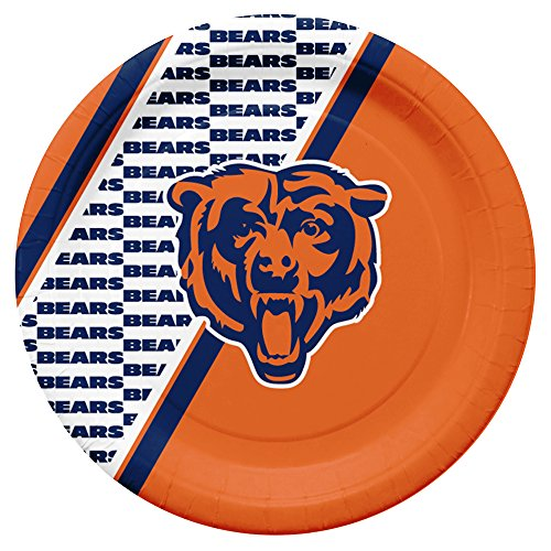 NFL Chicago Bears Disposable Paper Plates, Pack of 20