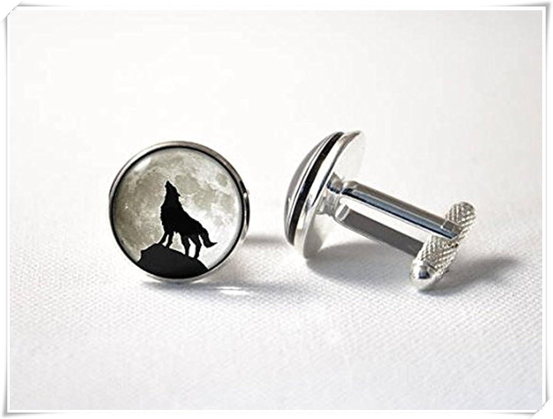 9b875f7edd Gemelos de Luna lobo aullando Luna Llena joyas Animal Gemelos 30% de  descuento. gafas de sol ...