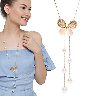 afbc1674a YouBella Fashion Jewellery Pendants for Girls with Long Chain Pendent Party  Necklace for Women   Girls  Amazon.in  Jewellery