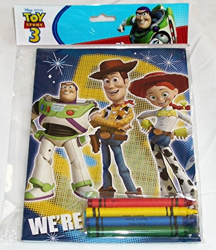 12 Sets of Disney Pixar Toy Story Coloring Books and Crayon Set Children Party Favors Bag Filler