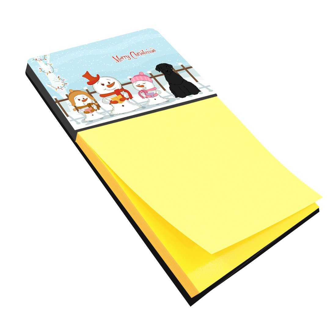 Multicolor Carolines Treasures BB2397SN Merry Christmas Carolers Giant Schnauzer Sticky Note Holder Large