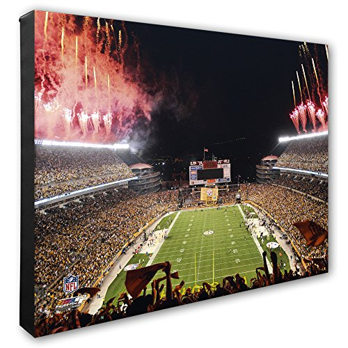"Fields Gallery (NFL Pittsburgh Steelers Heinz Field Opening Night Beautiful Gallery Quality, High Resolution Canvas, 16"" x 20"")"