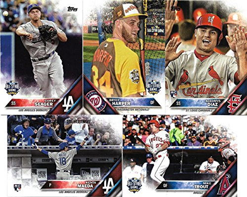 Update Baseball Card Set - 2016 Topps MLB Baseball Traded Updates and Highlights Series 300 Card Set Featuring Stars, Rookies and All Star Players Complete M (Mint)