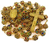 Best Nazareth Market Store Man Medallions - Colorful Zircon Beads Golden Rosary Catholic Necklace Miraculous Review