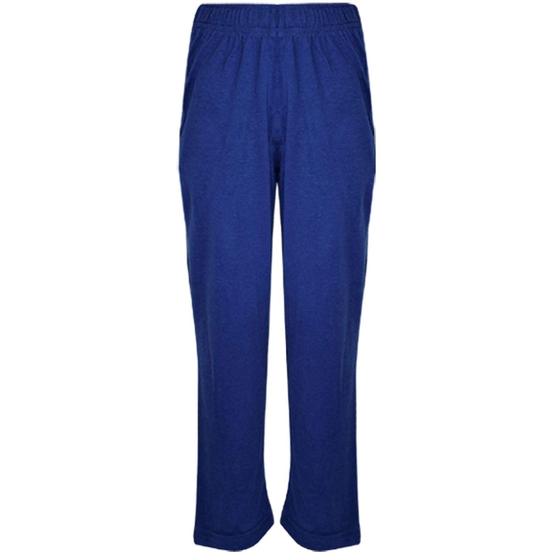 Kids Girls Boys PJs Plain Color Stylish Color Cotrast Pajamas Set Age 5-13 Years