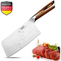 Aroma House Meat Cleaver,7 inch Vegetable and Butcher Knife German High Carbon Stainless Steel Kitchen Knife Chef Knives with Ergonomic Handle for Home, Kitchen & Restaurant