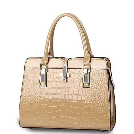f08420ff318af BestoU Handtasche Damen Schwarz Gross Tasche Leder Handtaschen  Schultertasche Frauen Umhängetasche (Khaki)