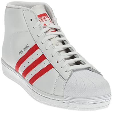 huge selection of a18f2 8f0d4 adidas S75928 Men PRO Model White RED