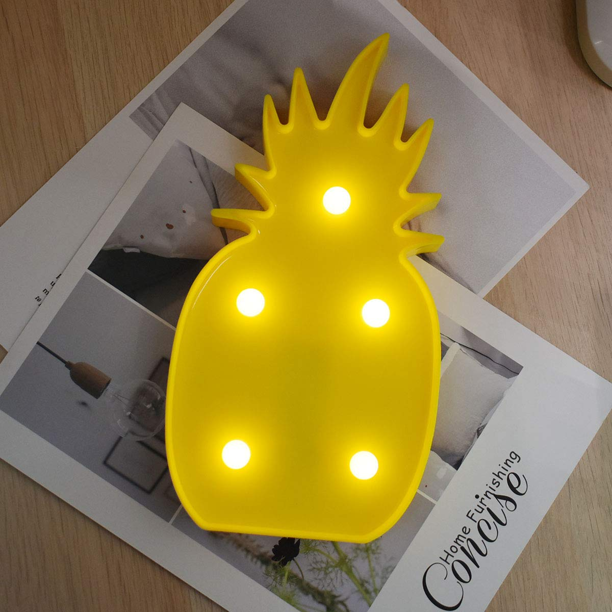 Amazon com dier plastic lighted pineapple marquee sign led baby