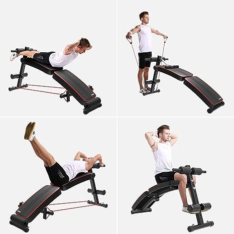 Bancos ajustables Ejercicios ajustables para sentarse en el banco para uso general para un gimnasio Unisex, equipo de ejercicios pesados para ejercicios ...