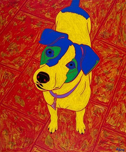 Feisty Jack Russell Terrier Art - Dog Pop Art MATTED Print by Angela Bond (Jack Russell Terrier Prints)