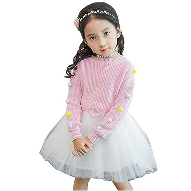 d6f97fd355dab 秋冬セーターのワンピース子供服 キッズ 女の子 女児 子ども ジュニア 子供ドレス ミニ丈 女の子