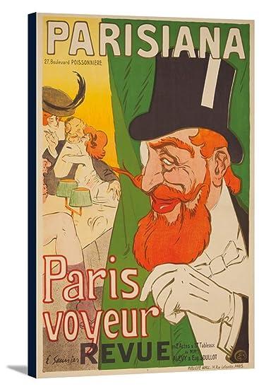 Amazon.com: Parisiana – París Voyeur clásico Cartel (Artista ...