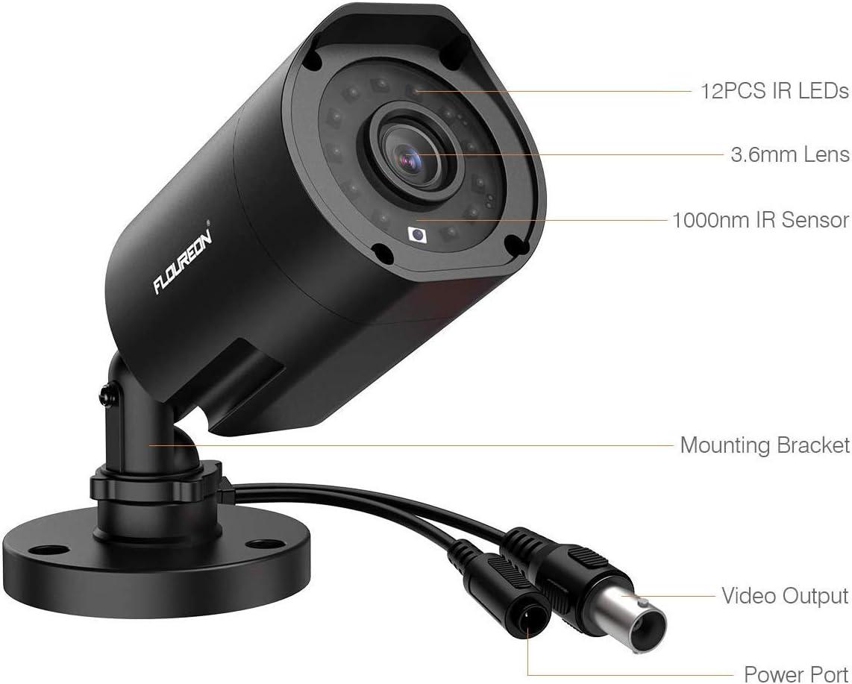 2,0MP 940nm Au/ßenkamera Zusatzkamera Unsichtbares IR-Nachsicht Wasserdicht f/ür CCTV AHD DVR /Überwachungssystem FLOUREON 1080P HD 3000TVL /Überwachungskamera