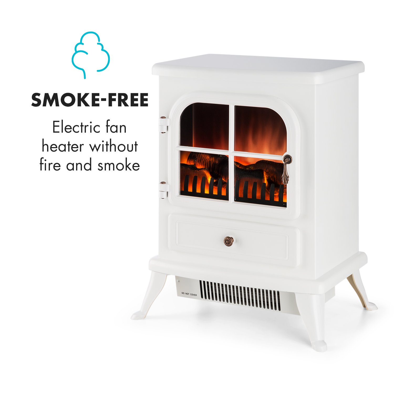 Klarstein St. Moritz • Chimenea eléctrica Virtual • Calefactor • Calefacción • Independiente del Calefactor • 1850 W • termostato • Libre de Fuego y Humo ...