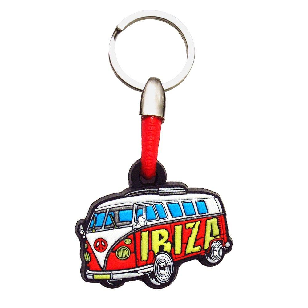 Love Ibiza: VW Camper Llavero PVC - Rojo, Talla única ...