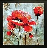 SAF 'Flower Floral' Wall Art Painting (Synthetic, 30 cm x 2 cm x 30 cm, SANF6183P)