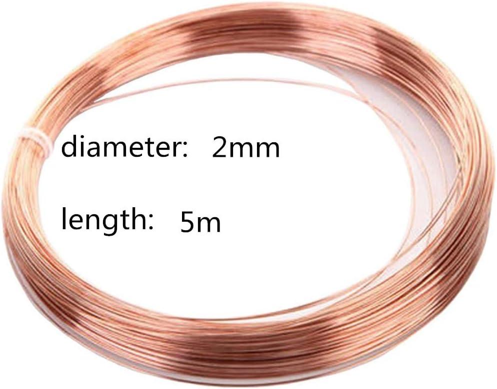LOKIH Copper Wire Metal Alloy Wire,1mmx5m