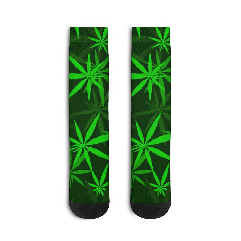 Marijuana Leaf Cannabis Socks for Men's Flat Four Seasons Socks Warm Boot Socks