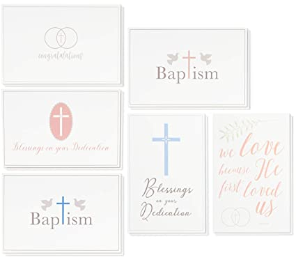 36 Pack Christian Religious Greeting Cards Bulk Box Set For Blessings On Your Dedication Wedding