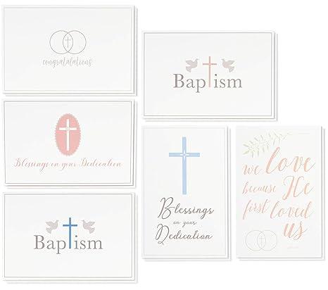 36 Pack Christian Religious Greeting Cards Bulk Box Set For Blessings On Your Dedication Wedding