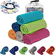 [6 Pack] Cooling Towel, Ice Sports Towel, Cool Towel for Instant Cooling,for Yoga, Travel, Golf, Gym,Camping, Fitness…