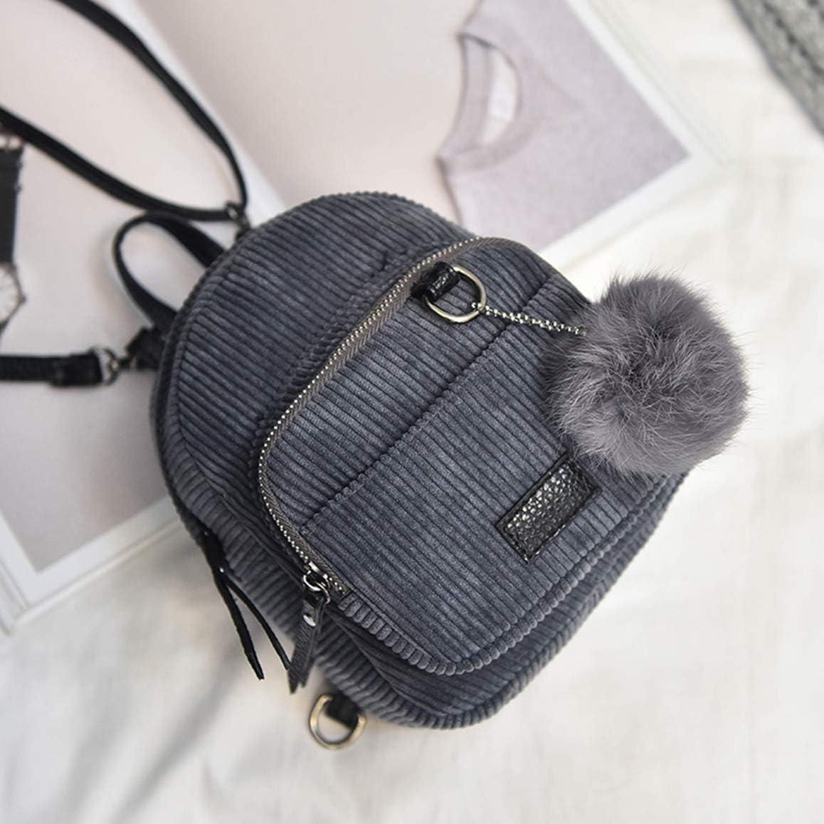 Pink Hkiss Retro Cute Velvet Solid Color Mini Backpack Bag
