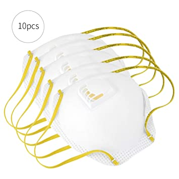 10 unids Respirador Antipolvo con algodón de filtro, Filtración de máscaras de gas máscara de