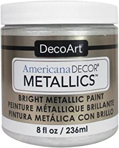 DecoArt Ameri Deco MTLC Americana Decor Metallics 8oz Pearl, 1