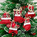Christmas Trees Ornament Gift Cute Christmas Socks Ornaments Festival Party Xmas Tree Hanging Decoration (A)