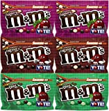 Vareity mix mms vote contains: 6 mms packs. (2) M&MS crunchy espresso sharing size 8oz, (2) M&MS crunchy raspberry sharing size 8oz, (2) M&MS crunchy mint sharing size 8oz.. Chocolate lovers are made with dark chocolate and with c...