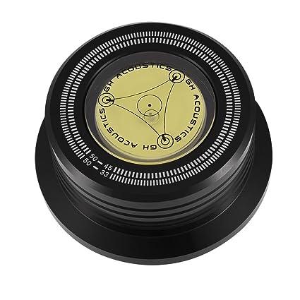 Tocadiscos de Reproductor de Discos. Abrazadera Estabilizadora de Disco Giratorio de 50 Hz con Nivel de Burbuja para Reproductor de Discos de Vinilo L ...