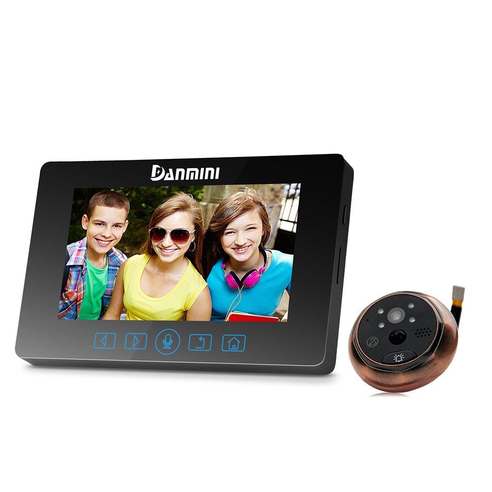 meiteai 4.3 pulgadas LCD digital cámara mirilla visor timbre puerta ojo grabación de vídeo profesional de 3.0 MP visión nocturna con teclas táctiles ...